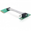DELOCK mini PCI-E x1 -> PCI-E x1 Riser card (9cm, bal)