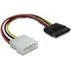 DELOCK Molex (M) - SATA (F) tápátalakító kábel (6 cm)