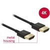 DELOCK Nagysebességű HDMI-kábel Ethernettel - HDMI-A > HDMI-A, 3D,4K, 4,5 m, aktív,vékony, prémium