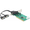 DELOCK PCI Card - 2 x Serial RS-232 High Speed 921K with Voltage supply