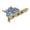 DELOCK PCI-E x1 - 2+1 portos FireWire A FireWire B IO vezérlő