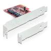 DELOCK PCI-E x1 - 2 portos SATA3 RAID vezérlő