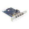 DELOCK PCI-E x1 - 4 portos FireWire A IO vezérlő
