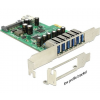 DELOCK PCIe kártya > 6 x külső + 1 x belső USB 3.0