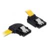 DELOCK SATA 3 F/F adatkábel 0.5m bal/fel sárga