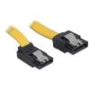DELOCK SATA F/F adatkábel 0.2m fel/egyenes sárga