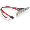 DELOCK Slot bracket internal SATA > SATA 22 pin 65047
