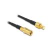 DELOCK SMB M/F antenna kábel 0.5m RG-174 fekete
