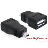DELOCK USB 2.0 A anya - mini USB apa adapter Delock 65277