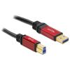 DELOCK USB 3.0-A > B apa / apa, 3 m prémium kábel