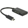 DELOCK USB 3.1 Gen 1 kártyaolvasó USB Type-C 4in1