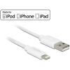 DELOCK USB adat- és töltőkábel iPhone™, iPad™ és iPod™ 2 m készülékhez fehér