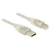 DELOCK USB Átalakító Szürke 5m 83896