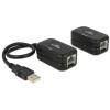 DELOCK USB Ethernet hosszabbító 60 m Cat.5e