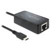 DELOCK UTP USB 3.1 Type C Átalakító Fekete 10cm 62642