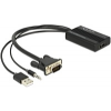 DELOCK VGA - HDMI+3,5mm jack audio fordító
