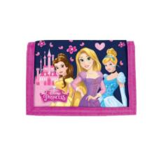 DERFORM Disney Hercegnők pink tépőzáras pénztárca
