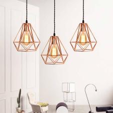 Design lámpabúra ajándék izzóval, réz világítás