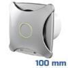 - Design ventilátor alu matt X (100 mm) alap típus