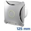 - Design ventilátor alu matt X (125 mm) alap típus
