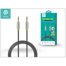 Devia 3,5 - 3,5 mm jack audio kábel 1 m-es vezetékkel - Devia iPure Audio Cable - black audió/videó kellék, kábel és adapter