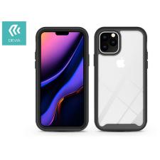 Devia Apple iPhone 11 Pro ütésálló hátlap - Devia Shark-5 Series Case - black/transparent tok és táska