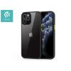 Devia Apple iPhone 12/12 Pro ütésálló hátlap - Devia Shark Series Shockproof Case - black/transparent