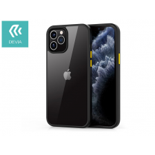 Devia Apple iPhone 12/12 Pro ütésálló hátlap - Devia Shark Series Shockproof Case - black/transparent tok és táska