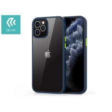 Devia Apple iPhone 12/12 Pro ütésálló hátlap - Devia Shark Series Shockproof Case - blue/transparent tok és táska