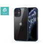 Devia Apple iPhone 12 Mini ütésálló hátlap - Devia Shark Series Shockproof Case - blue/transparent