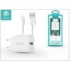 Devia Apple iPhone 5/5S/5C/SE/6S/6S Plus USB hálózati töltő adapter + lightning adatkábel 1,2 m-es vezetékkel - 5V/2,1A - Devia Smart Fast Charger Suit - white