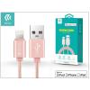 Devia Apple iPhone 5/5S/5C/SE/iPad 4/iPad Mini USB töltő- és adatkábel - 1,2 m-es vezetékkel (Apple MFI engedélyes) - Devia Fashion Cable Lightning - rose gold
