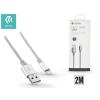 Devia Apple iPhone 5/5S/5C/SE/iPad 4/iPad Mini USB töltő- és adatkábel - 2 m-es vezetékkel - Devia Pheez Lightning USB 2.1A - silver