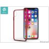 Devia Apple iPhone X hátlap - Devia Glimmer - red/transparent