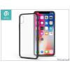 Devia Apple iPhone X hátlap - Devia Luxurious - gun black/transparent
