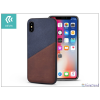 Devia Apple iPhone X hátlap kártyatartóval - Devia iWallet - blue/brown