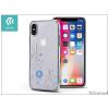 Devia Apple iPhone X hátlap Swarovski kristály díszitéssel - Devia Crystal Petunia - silver/transparent