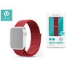Devia Apple Watch lyukacsos sport szíj - Devia Deluxe Series Sport3 Band - 42/44 mm - red