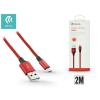 Devia USB - micro USB adat- és töltőkábel 2 m-es vezetékkel - Devia Pheez USB 2.0 - red