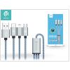 Devia USB - micro USB + Lightning + Type-C adat- és töltőkábel 1,2 m-es vezetékkel - Devia Vogue 3in1 Charging Cable USB 2.4A - blue