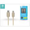 Devia USB Type-C - Lightning adat- és töltőkábel 1 m-es vezetékkel - Devia Gracious USB Type-C to Lightning Cable - champagne gold