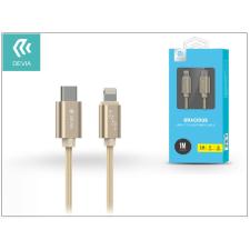 Devia USB Type-C - Lightning adat- és töltőkábel 1 m-es vezetékkel - Devia Gracious USB Type-C to Lightning Cable - champagne gold tok és táska