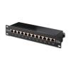 Digitus 10\'\' CAT5e 12-portos S/FTP patch panel