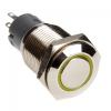 Dimastech Vandalism Resistant kapcsoló / gomb 16mm - Silverline - sárga