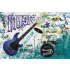 Dimex BLUE GUITAR fotótapéta, poszter, vlies alapanyag, 375x250 cm