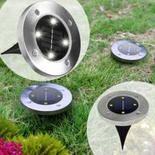 Disk Light 4 db napelemes, leszúrható LED-es kerti lámpa kültéri világítás