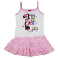 Disney Minnie és Daisy kacsa spagetti pántos fodros pamut ruha