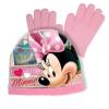 Disney Minnie Mouse sapka és kesztyű szett - világos rózsaszín, 52