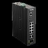 DLINK D-Link Ipari Switch 12 Port - 10x1000Mbs + 2xSFP + 1xRJ45 Console Port - DIS-200G-12S Smart Managed RM L2 Fanless