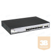 DLINK D-Link Switch 8x1000Mbps+ 2 SFP POE Smart (802.3af/802.3at/78W) (8 x PoE ports, fanless)